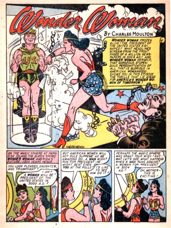 Image result for wonder woman 7 president pages